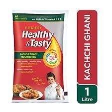 Emami Healthy & Tasty Kachhi Ghani Mustard Oil 1 L