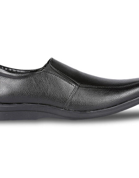 2BATA Black Formal Shoes For Men_02