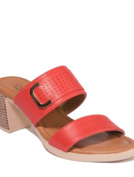 CLEO RED CASUAL HEEL SANDAL_01