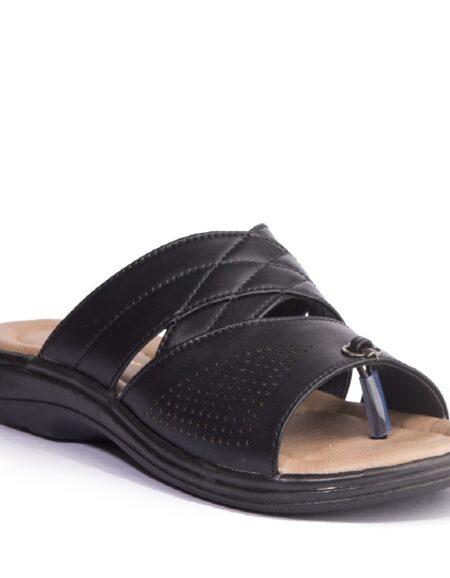 KHADIM_S BLACK CASUAL SLIP_ON SANDAL_01