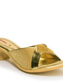 KHADIM_S GOLD ETHNIC MULE SANDAL_01