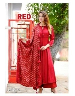 Pretty Rayon Womens Kurta Set Design 6