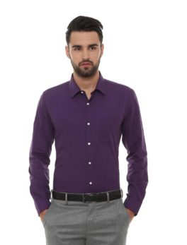 Peter England Purple Shirt