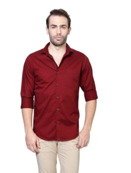 Peter England Red Casual Shirt