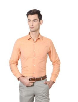 Peter England orange Shirt-