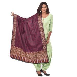 Purple-weavers-villa Shawl