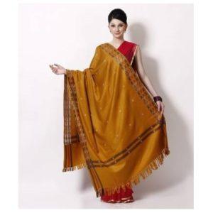 yellow-kashmiri-queen Shawl