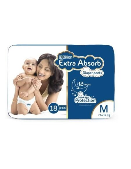 Billion-extra-absorb-pant-diapers-m-18 Piece